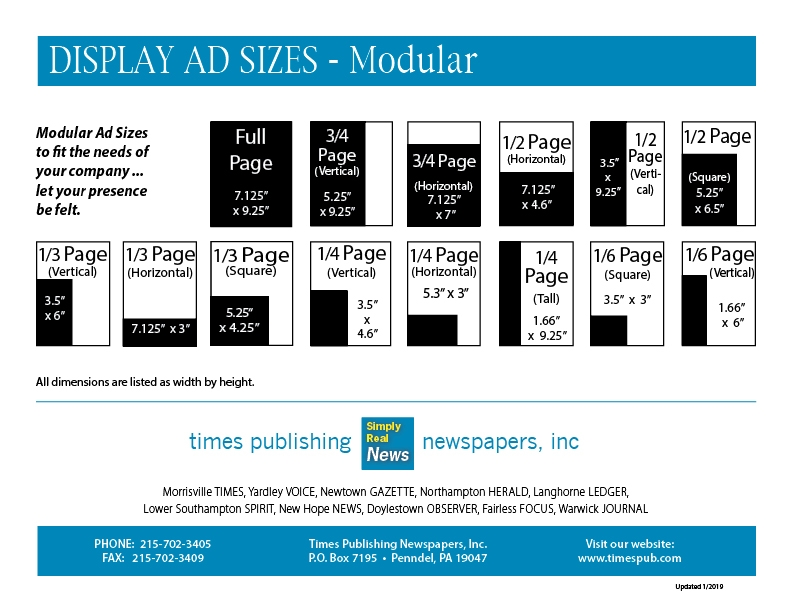 display ad sizes 2019