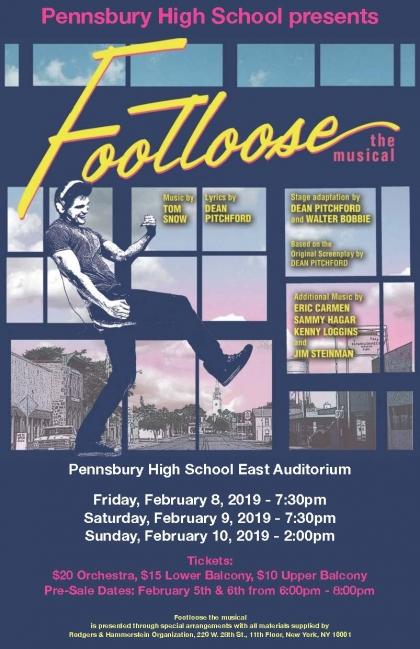 PHS Musical - Footloose Poster - Feb 8-10, 2019