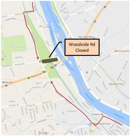 woodside detour map 2