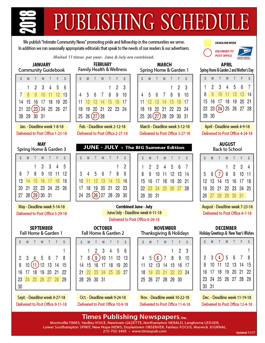 Schedule times publishing newspapers inc publication schedule publicscrutiny Choice Image
