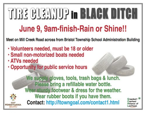 GOAL Tire Cleanup in Black Ditch @ Mill Creek Rd.