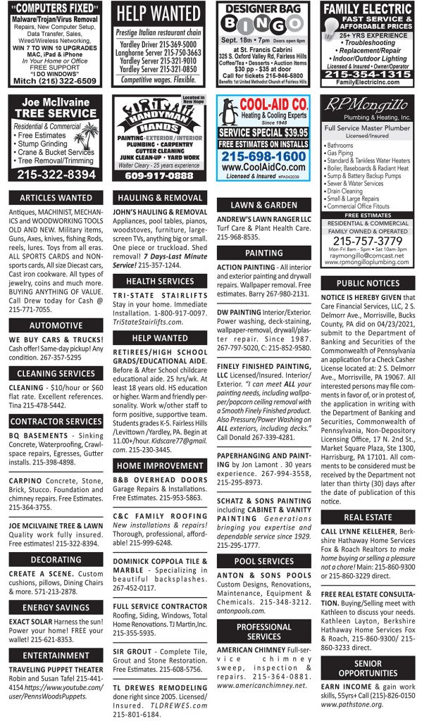 Classified Ads September 2021